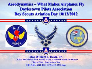Maj William J. Doyle, Jr.  Civil Air Patrol, New Jersey Wing, Assistant StanEval Officer
