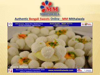Authentic Bengali Sweets Online - MM Mithaiwala