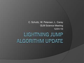 Lightning Jump Algorithm Update