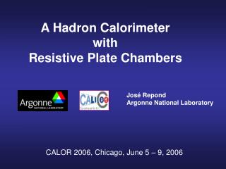 A Hadron Calorimeter with Resistive Plate Chambers