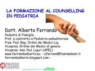Dott. Alberto Ferrando Pediatra di Famiglia Prof. a contratto in Pediatria ambulatoriale