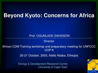 Prof. OGUNLADE DAVIDSON Director