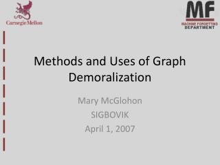 Methods and Uses of Graph Demoralization