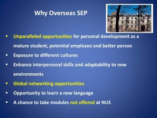 Why Overseas SEP