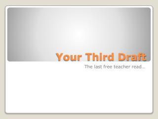 Your Third Draft