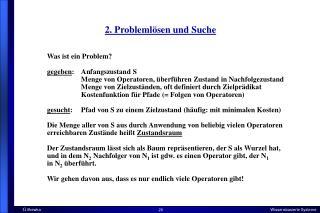 2. Problemlösen und Suche