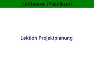Software Praktikum