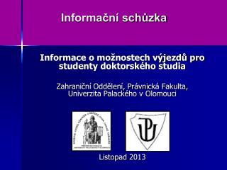 Informační schůzka