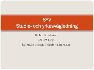 SYV Studie- och yrkesvägledning