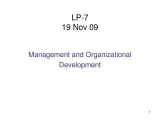 LP-7 19 Nov 09