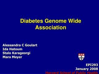 Diabetes Genome Wide Association