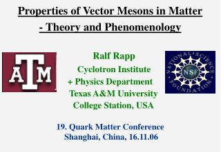 Properties of Vector Mesons in Matter - Theory and Phenomenology