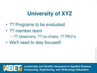 University of XYZ