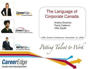 TESL Ontario Conference: November 13, 2008