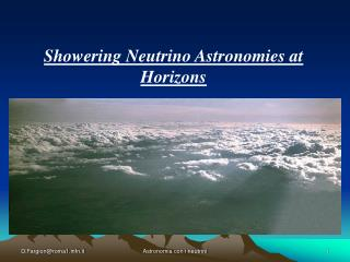 Showering Neutrino Astronomies at Horizons