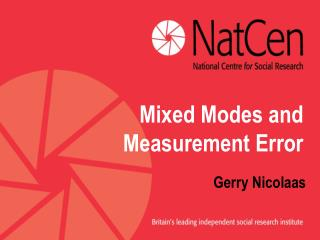Mixed Modes and Measurement Error