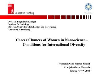 Career Chances of Women in Nanoscience – Conditions for International Diversity