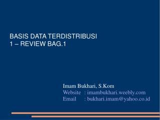BASIS DATA TERDISTRIBUSI 1 – REVIEW BAG.1