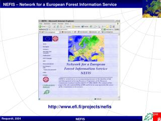 NEFIS – Network for a European Forest Information Service