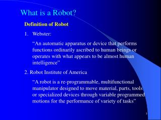 What is a Robot