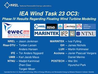 IEA Wind Task 23 OC3: Phase IV Results Regarding Floating Wind Turbine Modeling