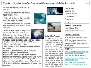 Coasts :  Flooding Coasts /  Causes and Consequences of Rising Sea Levels