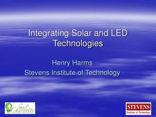 Integrating Solar and LED Technologies