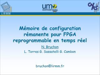 Mémoire de configuration rémanente pour FPGA reprogrammable en temps réel