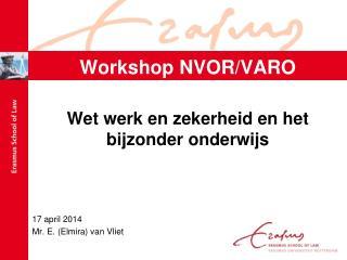 Workshop NVOR/VARO