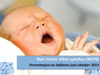 Nytt Vestre Viken-sykehus (NVVS) Presentasjon av  idéfasen  juni-oktober 2013