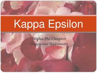 Kappa Epsilon