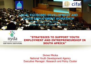 �STRATEGIES TO SUPPORT YOUTH EMPLOYMENT AND ENTREPRENEURSHIP IN  SOUTH AFRICA�