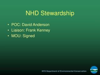 NHD Stewardship
