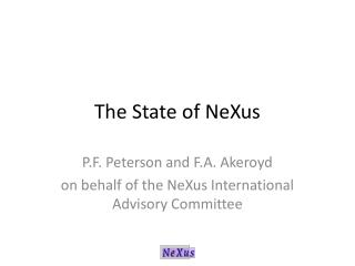 The State of NeXus