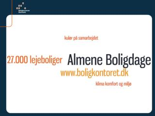 Workshop v. Almene Boligdage, lørdag den 03. september 2011 ' Tomme boliger'