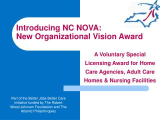 Introducing NC NOVA: New Organizational Vision Award