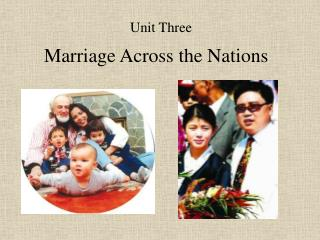 Marriage Across the Nations
