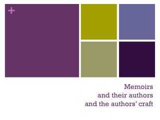 Memoirs  and their authors and the authors' craft