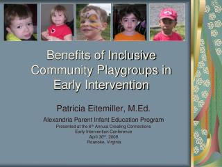 Benefits of Inclusive Community Playgroups in Early Intervention
