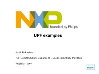 UPF examples