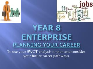 Year 8 Enterprise Planning your career