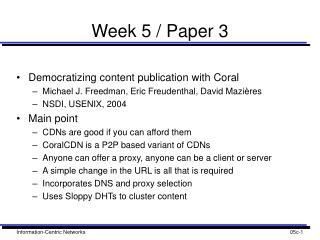 Week 5 / Paper 3