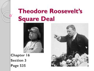 Theodore Roosevelt's  Square Deal