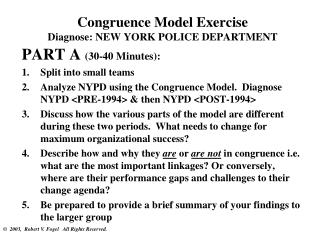 Congruence Model Exercise Diagnose: NEW YORK POLICE DEPARTMENT