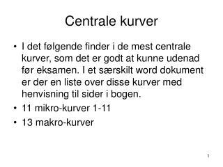 Centrale kurver