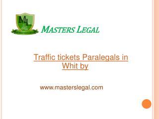 Traffic tickets Paralegals in Oshawa