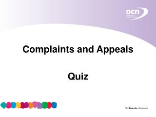 Complaints and Appeals