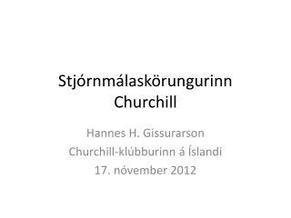 Stj órnmálaskörungurinn Churchill