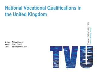 National Vocational Qualifications in the United Kingdom