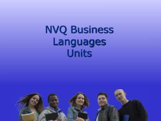 NVQ Business  Languages  Units